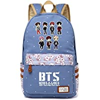 JUSTGOGO Korean Casual Kpop BTS Bangtan Boys Backpack Daypack Laptop Bag College Bag Book Bag School Bag