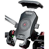 Kaedear(カエディア) バイク スマホホルダー バイク用 スマホ 携帯 ホルダー 防水 アルミ マウント スマート…