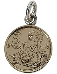 本物のスペインのコインペンダント(2) シルバー925製 銀 硬貨メンズ レディース アクセサリー