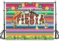 TMOTN 7 x 5フィート フィエスタパーティー 写真撮影用背景 タコ バウト メキシカン ドレスアップ 写真 背景 ビニール フィエスタテーマ 誕生日パーティー バナー 背景幕 D2101