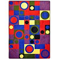 Joy Carpets Kid Essentials City Block Teen Area Rugs 46-Inch by 64-Inch by 0.36-Inch Red [並行輸入品]
