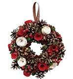 丸和貿易  クリスマス リース ジョイナスローズ  (L)  壁掛け  玄関飾り    4008739-02