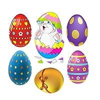 Amosfun ウサギパターンウォールステッカーdiyの取り外し可能なバニー塗装卵装飾ステッカー用イースターパーティーの装飾