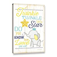 ArtWall Jennifer Pugh's Twinkle Twinkle Little Star ギャラリーラップキャンバス 24x36 マルチカラー 3pug040a2436w