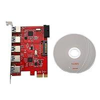 拡張ボードカードVBESTLIFE PCI to USB拡張ボードアダプタ PCI-Expressスロット 5ポートUSB3.0+20PIN 1Gbpsの伝送速度 最高5Gbps Windows XP/Vista / win7 / win8 / win10など適用