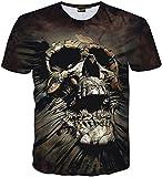(ピゾフ)Pizoff メンズ Tシャツ 半袖 欧米風 髑髏柄 ストリート ファッション ゴシック様式 カジュアル トップスY1730-J3-S