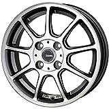 HOT STUFF(ホットスタッフ)G、speed (ジースピード)P-01 アルミホイール4本セット 14インチ4.5J INSET45 PCD100 HOLE4 カラー:ガンメタポリッシュ