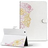igcase Qua tab PX au LGエレクトロニクス Quatab LGT31 タブレット 手帳型 タブレットケース タブレットカバー カバー レザー ケース 手帳タイプ フリップ ダイアリー 二つ折り 直接貼り付けタイプ 008846 ラブリー 花 フラワー ピンク 人物