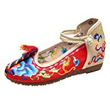 Zhhlinyuan ファッションの刺繍をした婦人靴 Classical Embroidered Shoes Beautiful Womens Casual Cloth Shoes 3 Colors