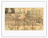 によって作成された ハーマン・モル c.1719 - キャンバスアート - 51cm x 66cm キャンバスアート(ロール)