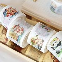 マスキングテープ (和紙テープ) 7m 8巻セット DIY 文房具 漫画 ステッカー テープ 粘着紙 オフィス スクール 用品 学生 子供 ギフト