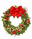 場所をとらない クリスマスツリー タペストリー 皺になりにくいフリース薄手 (Small約100×150cm, 1.リース)