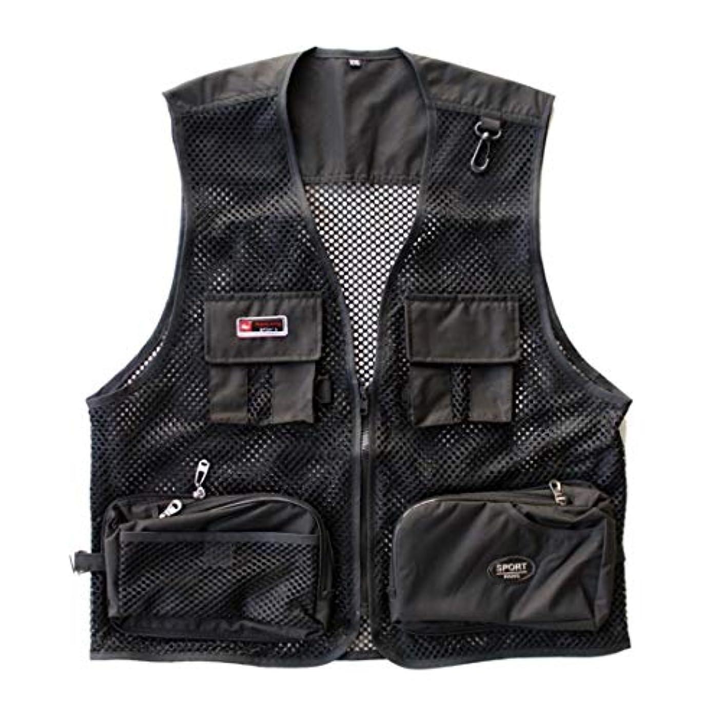 債務者ヒューバートハドソン神経障害荒波が百貨店を使う メンズリバーシブルアウトドアポケットフィッシングサファリトラベルベストジャケット (色 : 05, サイズ : XL)