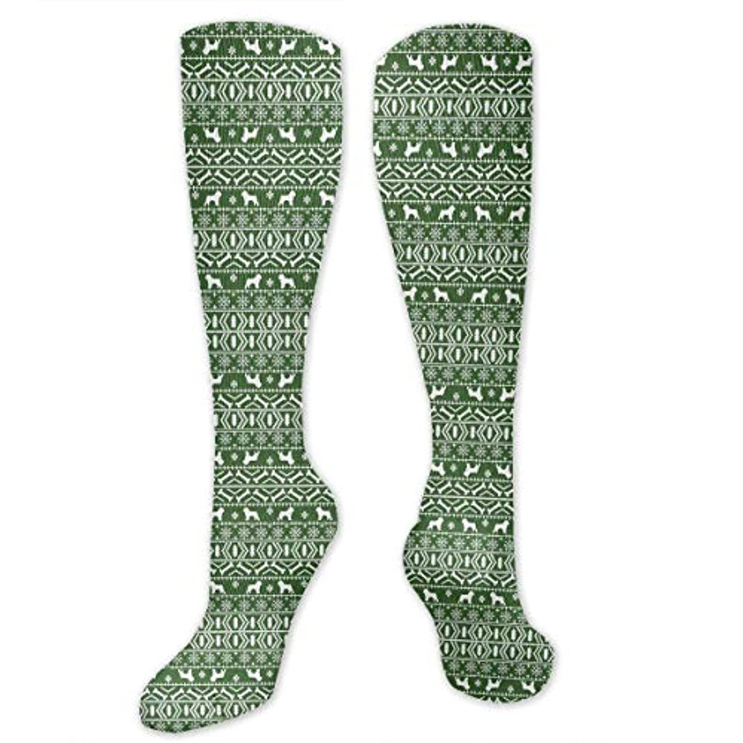 リスナー包帯信じる靴下,ストッキング,野生のジョーカー,実際,秋の本質,冬必須,サマーウェア&RBXAA Brussels Griffon Fair Isle Christmas Socks Women's Winter Cotton Long...
