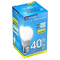 三菱化学メディア LED電球 (一般電球形/40W相当/広配光/全光束530lm/昼光色・口金E26) LDA5D-G/VP5 【ビックカメラグループオリジナル】