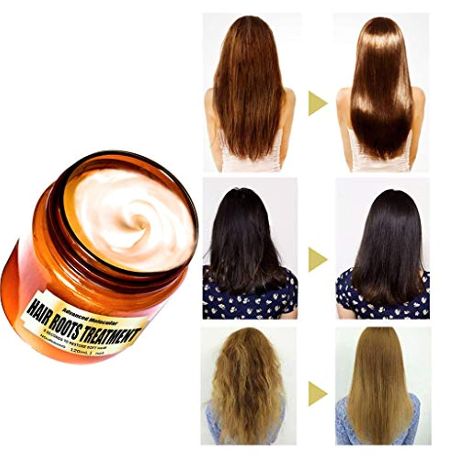 赤字明快プロフィールヘアマスク高度な分子毛根治療剤120ML弾力性回復髪 (A)