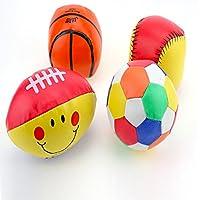 greatlove Set of 4スポーツボール子供の – サッカーボール、バスケットボール、サッカー、テニスボール