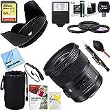 Sigma 24mm f / 1.4DG HSM広角レンズ(アート) for Canon DSLRカメラマウント( 401–101) + 64GB究極フィルタ&フラッシュ写真バン..