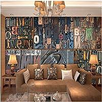 Mingld カスタム写真壁紙英語アルファベット背景壁壁画カスタム高品質リビングルーム壁紙壁画-120X100Cm