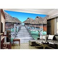 Mingld カスタム壁画写真3D部屋の壁紙海辺のリゾート家の装飾画3D壁の壁画の壁紙3 D-250X175Cm