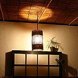 アジアンインテリア天井照明 バナナリーフの行灯ランプ