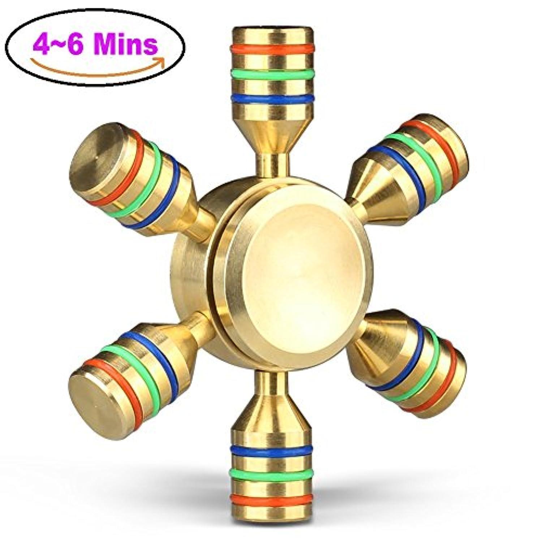 ハンドスピナー Hand Spinner Fidget Spinner 指スピナー 純銅 日本604軸受け 取り外し可能な翼 4-6分間平均スピン Othoking