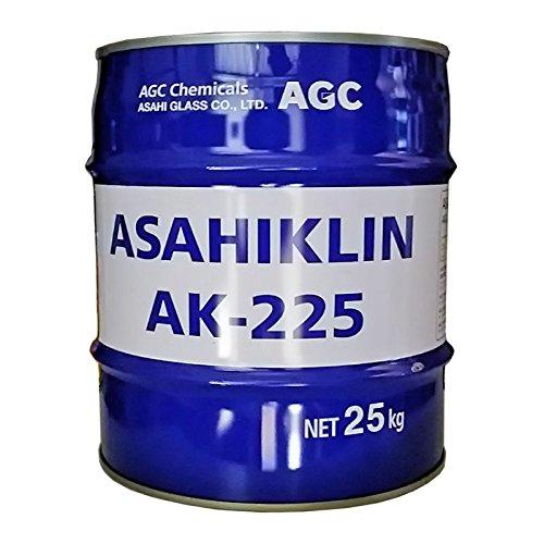 【AGC旭硝子】 アサヒクリンAK-225 (HCFC-225) 25Kg [不燃性・安全性・洗浄力・乾燥性優れた機能性溶剤]
