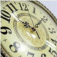 アメリカンメタル時計の両面壁時計ホームヨーロッパの時計の壁時計ミュートリビングルームレトロ創造的な両面壁のチャート20インチ(直径50.5センチメートル)マルチスタイルオプション (三 : B)