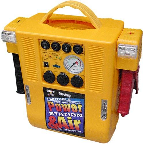 【停電対策】【災害対策】車載非常電源ジャンプスターター パワーステーション&エアー (12V専用多機能パワーステーション5in1)