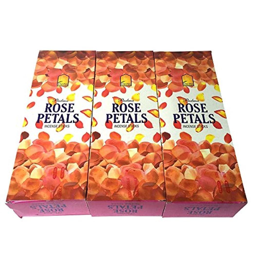 スタイル四半期ルーチンローズペタル香スティック 3BOX(18箱) /PADMA ROSE PETALS/インセンス/インド香 お香 [並行輸入品]