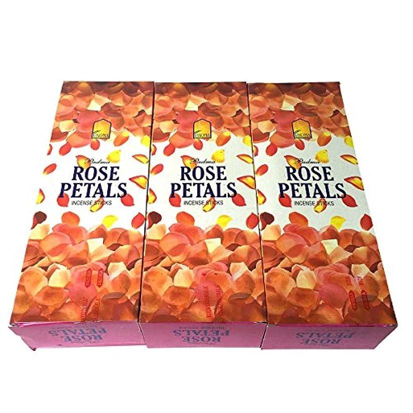 ローズペタル香スティック 3BOX(18箱) /PADMA ROSE PETALS/インセンス/インド香 お香 [並行輸入品]