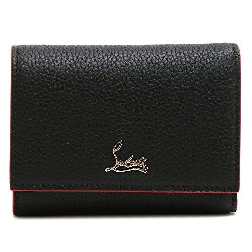 [クリスチャンルブタン] CHRISTIAN LOUBOUTIN 財布 3つ折り財布W BOUDOIR MINI WALLET 3185105 CM6S/BLACK*GOLD