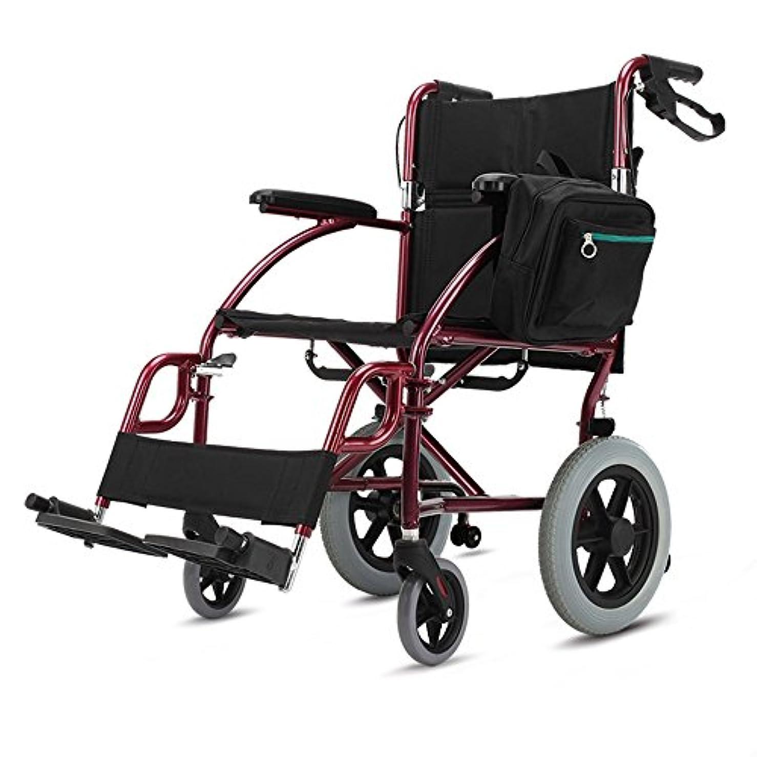 キャップ軽蔑する杭QFFL 車いすシニア折り畳み式車椅子障害者用可搬型厚手アルミニウム合金スクーター90 * 105cm 松葉杖ウォーカー