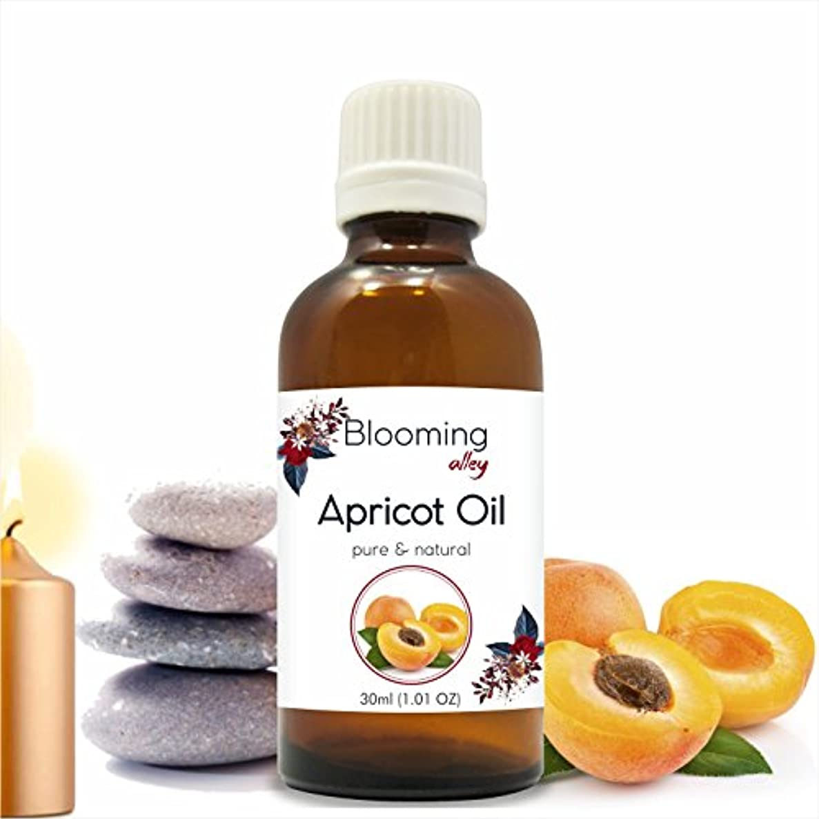 コットン私たち処分したApricot Carrier Oil Prunus armeniaca 30ML