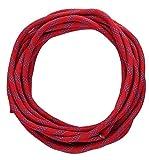 MARITSU 高強度ロープ 太さ: 10.5mm 長さ: 10m 収納袋セット アウトドア キャンプ 登山補助ロープ (赤 10.5mm x 10m フック無し)