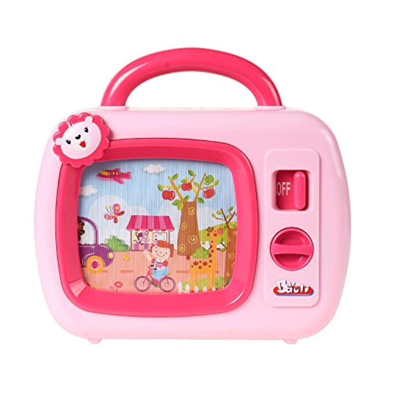 Baoli メロディーテレビ おやすみオルゴール 催眠役立ち ベビー用おもちゃ(ピンク)