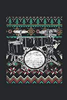 Ugly Christmas - Drum: Small Lined Notebook (6 X 9 -120 Pages) - Ugly Christmas Gift and Holiday Planner For Women, Men, Teens And Kids