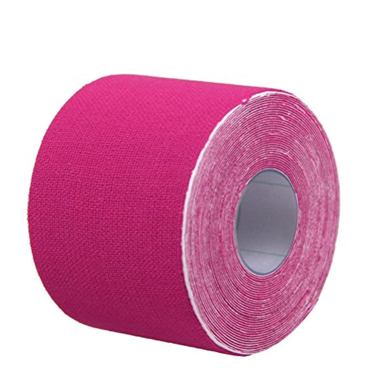 バケツ顔料スナックROSENICE キネシオロジーテープセットセラピースポーツフィジオセラピー500x2.5cm(ピンク)