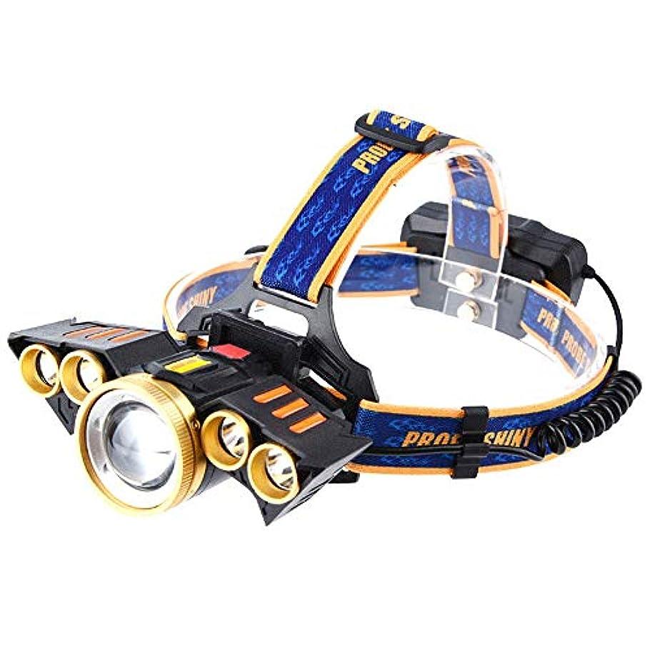 検出する機関車日付付きLEDヘッドランプ、USB充電式ヘッドトーチ、4モード、防水IPX4