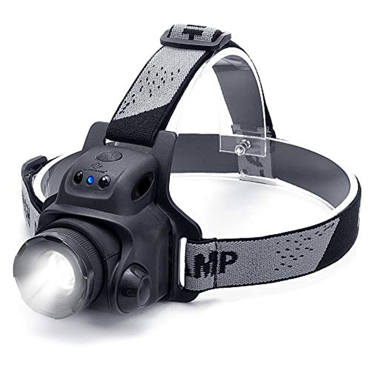 割るテレビを見る描くNN.ORANIE LEDヘッドライト ヘッドランプ センサー機能 usb充電式 2000mAh IP65防水 300ルーメン ズーム機能 3点灯モード 90°角度調整 アウトドアライト 日本語説明書 登山/キャンプ/サイクリング/ハイキング/防災/夜釣り