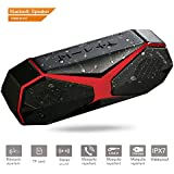 Bluetooth Speaker Portable MODAR, Waterproof IPX7, Wireless Outdoor, Handsfree Calling, Bass Box, TF Card Supported, Built-in Dual-Driver Speaker,Subwoofer Works with iOS and Android
