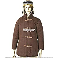 Medieval gear brand L size brown Gambeson type IV Medieval padded Armor Combat Coat SCA WMA jacket