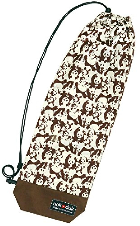 nokduk バドミントン専用ラケットケース  ファンシーシリーズ 『パンダ 茶?ベージュ』 スマートでコンパクト(2本可)。丁寧な縫製。