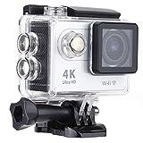 4K スポーツカメラ 2.0インチLCDスクリーン Wifi機能搭載 H.264ビデオ圧縮 170度広角レンズ 30M 防水ケース付き アクションカメラ(ホワイト)