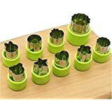 St. Lun 8pcs Vegetable Cutters Shapes Set - Cookie Cutters Fruit Mold Presses Food Make