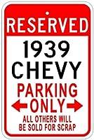 193939Chevyアルミニウム駐車場サイン 10 x 14 Inches CAR1001-00037
