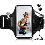 TORRAS ランニング アームバンド スポーツ用アームバンド【タッチOK】鍵入り 防汗 イヤホーンホルダー付き 調節可能 iPhoneX、iPhone6/7/8plus、Samsung,Androidなど 6インチ以内のスマホに対応