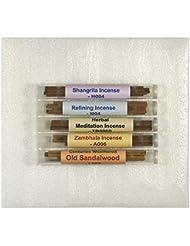 チベット香サンプルパック# 2 – 5チューブセット – [ Shangrila Incense + Refining Incense +ハーブMeditation Incense ø4 mm + Zambhala Incense...