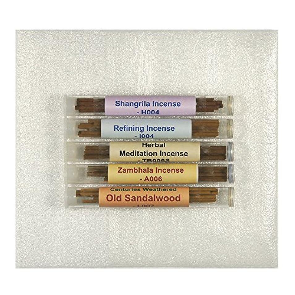 制限された島他の場所チベット香サンプルパック# 2 – 5チューブセット – [ Shangrila Incense + Refining Incense +ハーブMeditation Incense ø4 mm + Zambhala Incense...