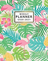 Weekly Planner 2020-2021: 2 Year Weekly & Daily View Organizer with To-Do's, Funny Holidays & Inspirational Quotes, Vision Boards & Notes | Two Year Agenda & Diary | Nifty Tropical Flamingo & Pineapple